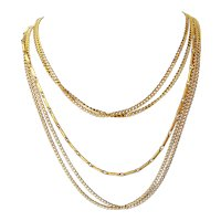 Vintage Multi Chain Gold tone Necklace Designer Quality