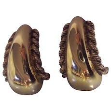 St. John Designer Gold Plated Earrings