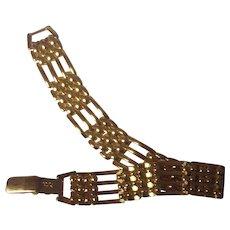 Vintage Napier Bracelet in Gold tone