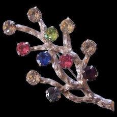 Sterling Silver Tree Brooch Van Dell