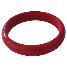 Red Lucite Bangle Bracelet