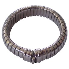 Flexible Made in Italy Silver tone Bracelet Modernist