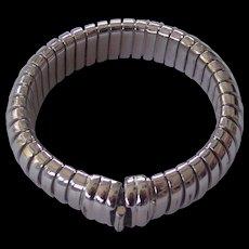 Flexible Made in Italy Silver tone Bracelet Modernist