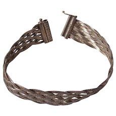Sterling Silver Woven Bracelet Milor Italy