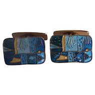 David Andersen Enamel Spring Four Seasons Cufflinks