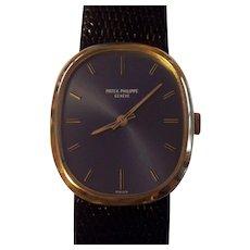 Patek Philippe 18K Gold Mens Wrist Watch Vintage