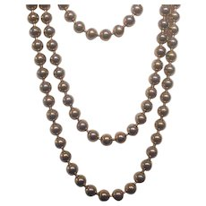 Extra Long Ball Bead Gold tone Necklace Monet