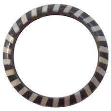 Tribal Bone & Shell Bangle Bracelet