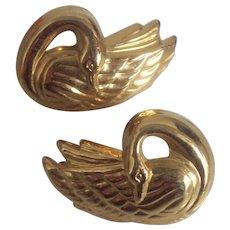 GRaceful Swan Earrings in Gold tone Avon