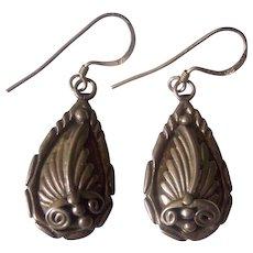 Richard Begay Navajo Sterling Silver Earrings