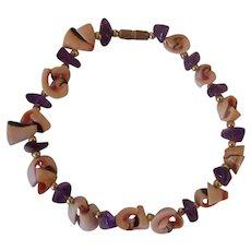 Shell and Amethyst Bracelet