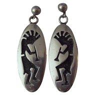 Hopi Native American Kokopelli Signed Earrings