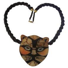 Wonderful Lee Sands Inlaid Tiger Necklace