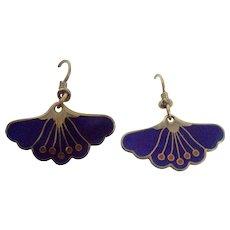Blue Enamel Laurel Burch Earrings