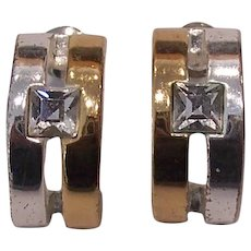 Givenchy Half Hoop Gold / Silver tone Earrings