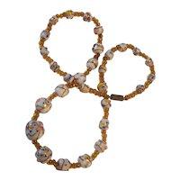 Italian Wedding Cake Beads Necklace