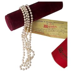 """Majorica Pearls 52"""" Endless Necklace w/Paper work Man-made Pearls"""