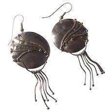 Big Modernist Carrie Groves Sterling Silver Earrings