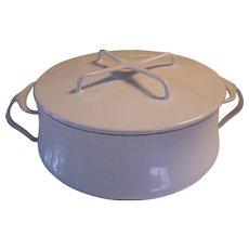 Dansk Kobenstyle White Enamel France 3 Q/L Cooking Pot Dutch Oven Jens Quistgaard