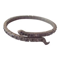 Art Deco Snake Bracelet Patented Pot Metal Flapper