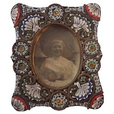 Micro Mosaic Antique Miniature Frame for Doll house