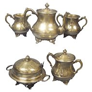 Pairpoint 5 pc Silver Plate Tea Set