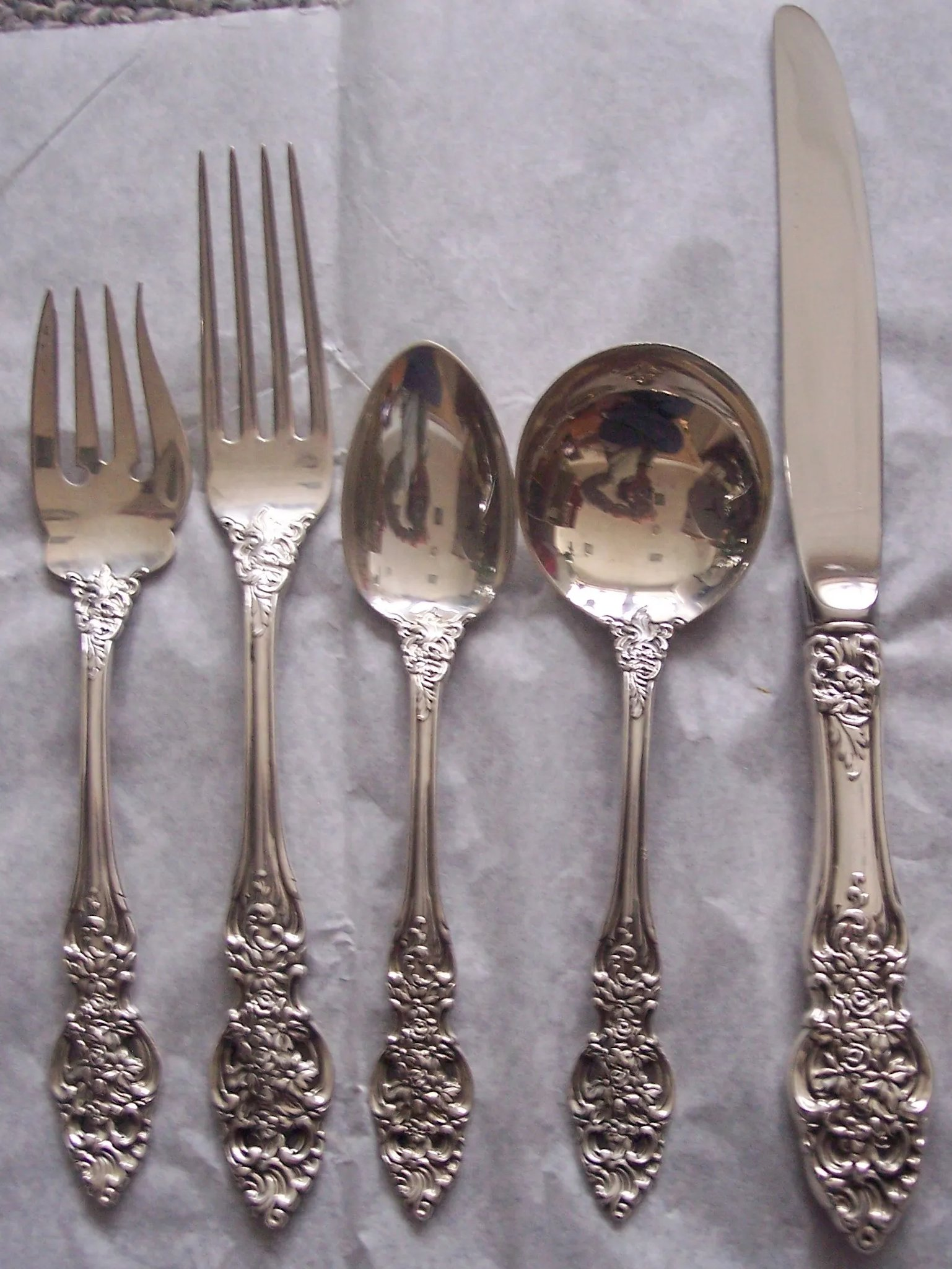 Vienna by Reed /& Barton Sterling Silver Cold Meat Fork 8 58