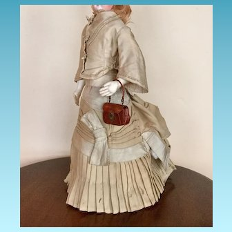 Antique French Fashion Walking Suit / Dress