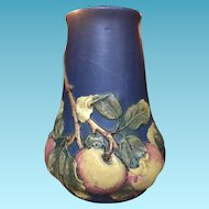 Beautiful vintage Blue Apple Baldin Weller Vase-Large 11.5""