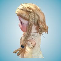 Gorgeous Antique Blonde Mohair Doll Wig