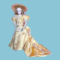 Gorgeous Antique Jumeau French Fashion Doll with Amazing Dress