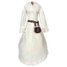Very Elegant Antique White Ensemble for French Fashion Doll