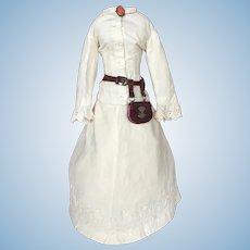 Very Elegant Antique White Ensemble for French Fashion Doll