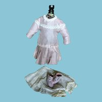 Vintage Doll Dress Underwear and Boots
