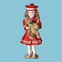 Pretty Antique Sonneberg Doll HOLDING