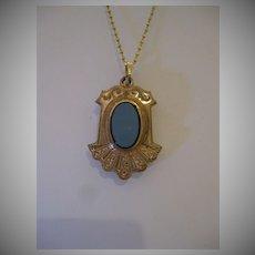 Victorian Agate Fob Pendant