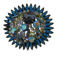 Rare Juliana Book Piece Brooch - Symphony in Blue