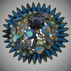 Rare Juliana Book Piece Brooch - Symphony in Blue