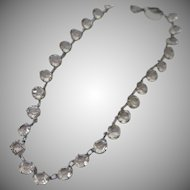 Art Deco Rock Crystal Necklace