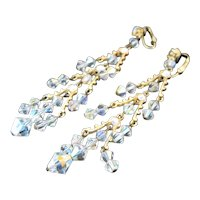 Exquisite Aurora Borealis Crystal Shoulder Duster Earrings