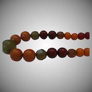 Estate Multi-color Bakelite Beaded Necklace
