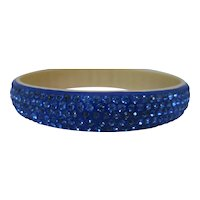 1940's Celluloid Blue Bangle