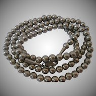 Vintage Sterling Bead Necklace