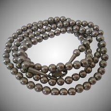 Vintage Sterling Bead Necklace
