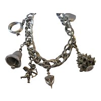 Monet Bracelet with Sterling and Monet Charms