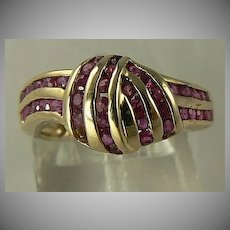 14kt Genuine Ruby Knot Ring, Size 5 1/2.