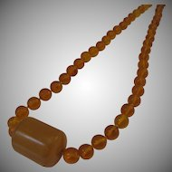 Vintage Amber and Bakelite Necklace