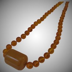 Vintage Amber and Bakelite Necklace