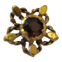 14kt Garnet Flower Stud Earrings