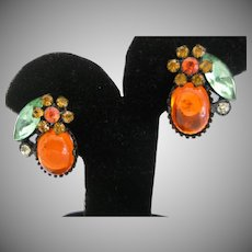 Vintage Yummy Jelly Clip Earrings
